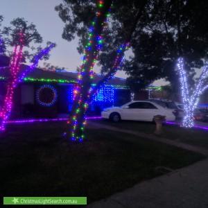 Christmas Light display at 46 Maccallum Circuit, Florey