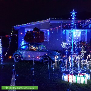 Christmas Light display at 2C Hilda Road, Baulkham Hills