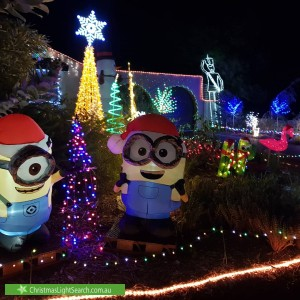 Christmas Light display at 69 Hilarion Road, Duncraig