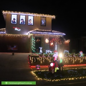 Christmas Light display at 8 Fernlea Street, Clyde North