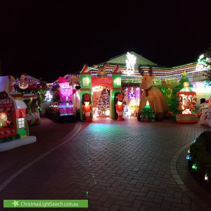 Christmas Light display at 71 Dunnings Road, Point Cook