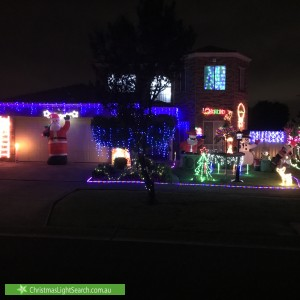 Christmas Light display at  Sheppard Court, Altona Meadows
