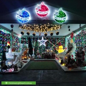 Christmas Light display at 858 Mount Dandenong Road, Montrose