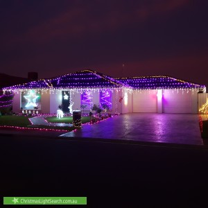 Christmas Light display at 26 Oxford Drive, Andrews Farm
