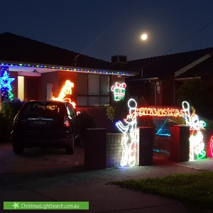 Christmas Light display at 11 Guila Court, Epping
