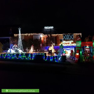 Christmas Light display at 37 Bellotti Avenue, Winston Hills