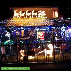 Christmas Light display at  Malmsbury Crescent, Rowville