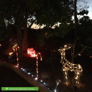 Christmas Light display at 4 Cripps Court, Duncraig