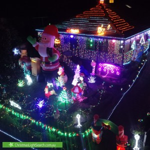 Christmas Light display at 29 Darvall Street, Donvale