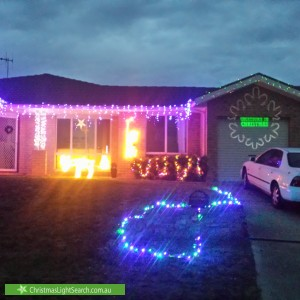 Christmas Light display at 67 Tipiloura Street, Ngunnawal