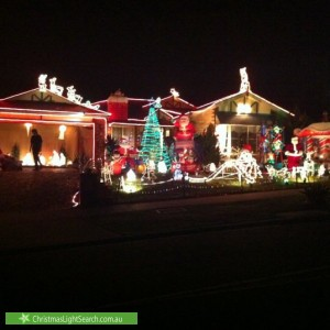 Christmas Light display at 29 Scenic Drive, Beaconsfield