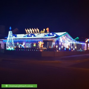 Christmas Light display at 214 Lady Gowrie Drive, Largs Bay