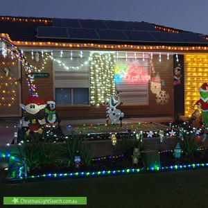 Christmas Light display at 4 Anvil Court, Andrews Farm