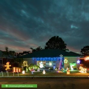 Christmas Light display at 7 Pape Crescent, Netley