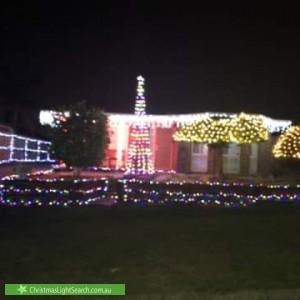 Christmas Light display at 13 Woodland Park Rise, Croydon South