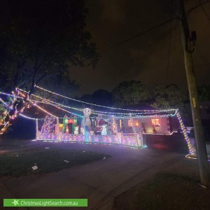 Christmas Light display at 17 Cook Avenue, Canley Vale