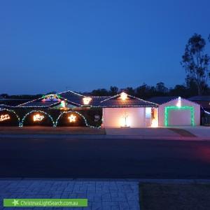 Christmas Light display at 54 Jacana Crescent, Flinders View