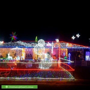 Christmas Light display at 6 Heron Close, Ballajura