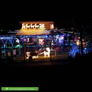 Christmas Light display at 16 Malmsbury Crescent, Rowville