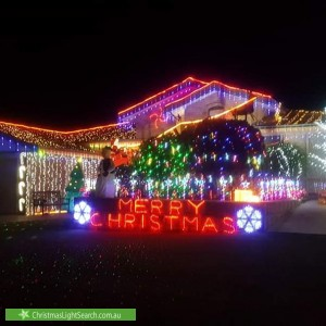Christmas Light display at 12 Consulate Court, Thornlie