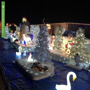 Christmas Light display at 1 Gordon Street, Chiltern