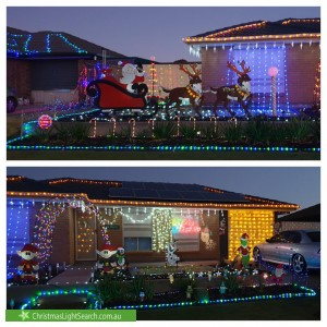 Christmas Light display at  Anvil Court, Andrews Farm