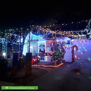 Christmas Light display at 8 Bowaka Street, Park Holme