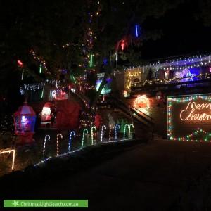 Christmas Light display at  Uther Avenue, Bradbury
