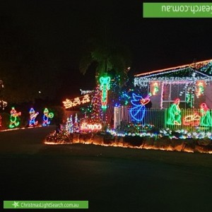 Christmas Light display at 16 Kosta Place, Albany Creek