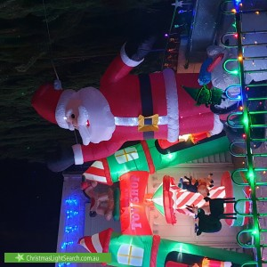 Christmas Light display at 22 Curtis Way, Girrawheen