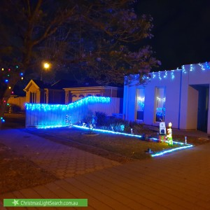 Christmas Light display at 21 Hastings Avenue, Burton