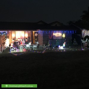 Christmas Light display at 34 Buckwell Drive, Hassall Grove