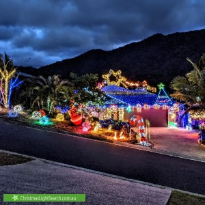 Christmas Light display at 24 Willoughby Close, Redlynch