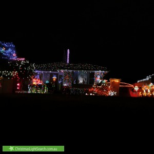 Christmas Light display at 15 Whittle Avenue, Milperra