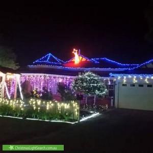 Christmas Light display at 7 Camphora Mews, Helena Valley