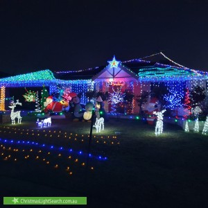 Christmas Light display at 3 Fernando Place, Safety Bay