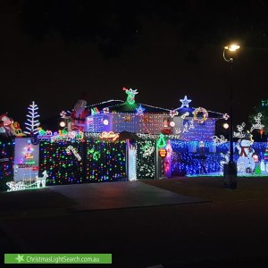 Christmas Light display at 10 Oppermann Place, Carindale