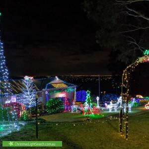 Christmas Light display at  Carla Views, Sunbury