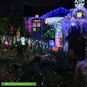 Christmas Light display at 2 Meadow Close, Beecroft
