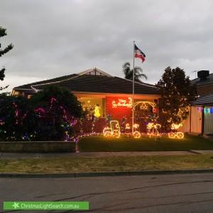 Christmas Light display at 2 Begonia Way, Narre Warren South