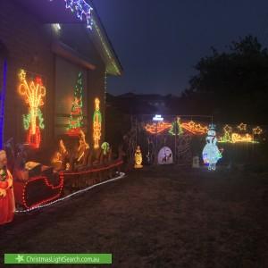 Christmas Light display at 12 Devon Road, Pascoe Vale