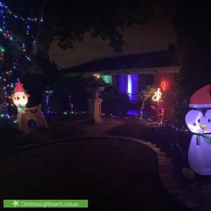 Christmas Light display at 50 Greenridge Court, Wynn Vale