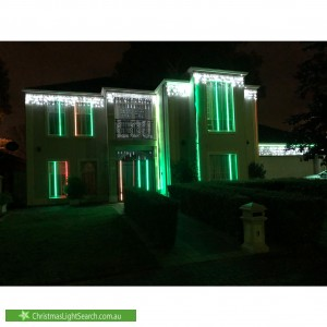 Christmas Light display at 9 Willow Bend, Marden