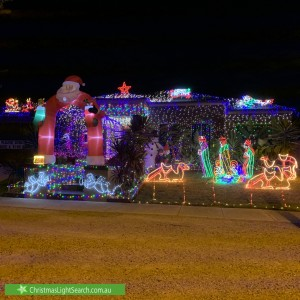 Christmas Light display at 13 Redcliffe Terrace, Taylors Hill