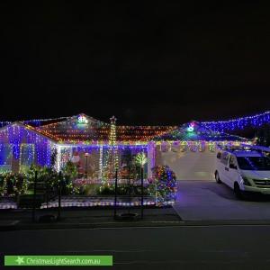 Christmas Light display at 32 Steamranger Drive, Sheidow Park
