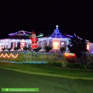 Christmas Light display at 1 Donnelly Link, Jane Brook