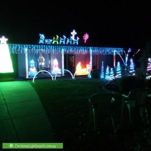 Christmas Light display at 2 Brook Court, Kidman Park