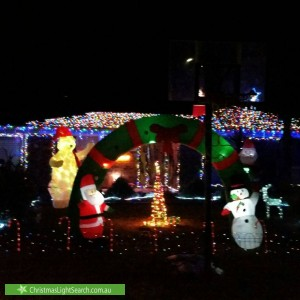Christmas Light display at 9 Paterson Court, Craigmore