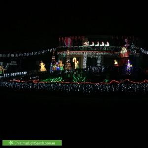 Christmas Light display at 27 Streldon Avenue, Strathmore