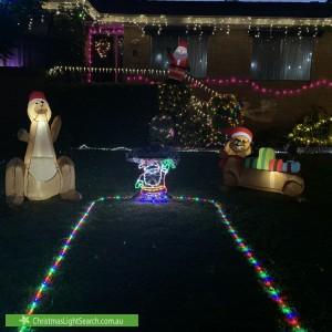Christmas Light display at 8 Wearing Street, Higgins